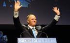 Premierminster John Key feiert seinen dritten Wahlsieg