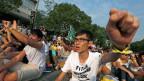 Vorlesungsboykott am Studenten-Protesttag in Hongkong.