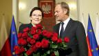 Die neue polnische Premierministerin Ewa Kopacz und der scheidende Premier Donald Tusk, der nach Brüssel zieht.