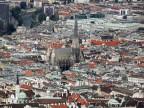 Blick auf die Wiener Innenstadt mit dem Stephansdom.
