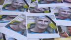 Porträts des französischen Bergführers Hervé Gourdelin, der in Algerien entführt und getötet wurde.