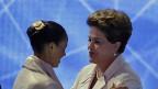 Marina Silva und Dilma Rousseff - beide hoffen, bei der Wahl vom kommenden Wochenende die Mehrheit der Stimmen zu erringen.