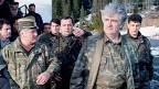 Radovan Karadzic auf einem Bild von 1995, als Anführer der bosnischen Serben. «Elemente aus Fragen der Anklage wurden mit Elementen der Zeugenantworten verbunden und als Tatsachen hingestellt»,  wetterte der Angeklagte anlässlich seines Schlussplädoyers vor dem Jugoslawien-Tribunal in Den Haag.