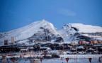 Ansicht der schwedischen Bergbaustadt Kiruna