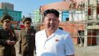 Der nordkoreanische Herrscher Kim Jong Uni besuchte im August 2014 ein Kinder- und Waisenheim in Pjöngjang.