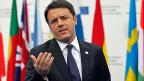Italiens Ministerpräsident Matteo Renzi am Beschäftigungsgipfel zur Jugendarbeitslosigkeit in der EU in Mailand.