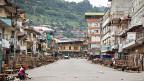 Sierra Leones Hauptstadt Freetown, während einer Ausgangssperre, die wegen Ebola verhängt wurde. Nichts geht mehr, alles steht still.
