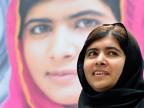 Malala Yousafzai, die zusammen mit Kailash Satyarthiden den Friedensnobelpreis 2014 erhält.