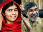 Malala Yusufzai (links) und Kailash Satyarthi.