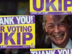 Wahlwerbung mit Nigel Farage, Ukip.