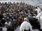 Flüchtlinge die in Italien Schutz suchen.
