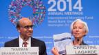 Christine Lagarde an der Jahrestagung des IWF in Washington.