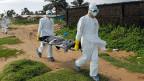 Die weissen Plastiksäcke sind zum Symbol des Schreckens geworden für eine ganze Gesellschaft. Wenn jemand stirbt wählt man in Liberia die Telefonnummer 4455. Dann rücken Männer aus, um die hochansteckenden Toten zu entsorgen.
