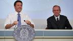 Der italienische Premier Matteo Renzi und Wirtschaftsminister Pier Carlo Padoan verkünden am 15. Oktober in Rom Italiens neue Strategie zur Förderung der Wirtschaft.