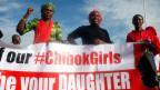 Aktivistinnen während einer Kundgebung für die Freilassung der Schülerinnen, die von Boko Haram entführt wurden.