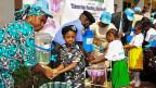 Die nigerianische Ministerin für Wasser-Ressourcen am «Hand-Washing-Day», am 15. Oktober in der nigerianischen Hauptstadt Abuja.ay»