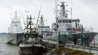 Eine Basis der schwedischen Marine ausserhalb von Stockholm.