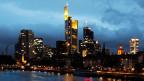 Am Sonntag veröffentlicht die EZB die Ergebnisse des letzten Banken-Stresstests. Die Banken-Skyline in Frankfurt am Main.