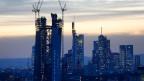 EZB-Gebäude im Bau in Frankfurt