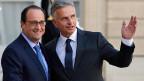 Frankreichs Präsident Hollande und Bundespräsident Burkhalter in Paris.