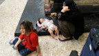 Eine Flüchtlingsfamilie in Italien.