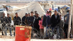 Flüchtlinge in einem Flüchtlingscamp bei Kobane.