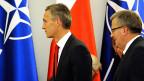 Der polnische Präsident Komorowski hat am 6. Oktober den neuen NATO-Generalsekretär Stoltenberg getroffen.