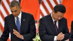 US-Präsident Barack Obama und der chinesische Präsident Xi Jinping haben in Peking neue Klimaziele vereinbart.