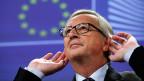 EU-Kommissionspräsident Jean-Claude Juncker nimmt an einer Medienkonferenz in Brüssel Stellung zu den sogenannten «Luxemburg Leaks».