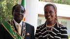 Zimbabwes Präsident Robert Mugabe mit seiner Ehefrau Grace.