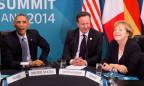 Obama, Cameron und Merkel