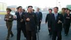 Aufnahme der nordkoreanische Führungsriege vom 14. Oktober 2014.