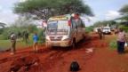 Kenianische Sicherheitskräfte am Ort des Attentats vom 22. November 2014