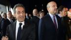 Nicolas Sarkozy trifft in Bordeaux ein, wo Alain Juppé regier