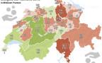 Übersicht der Überschüsse und Defizite der Kantone