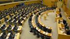 Sicht auf das schwedische Parlament während der Debatte über den Haushaltsplan der Regierung am Mittwoch, den 3. Dezember 2014.