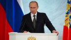 Vladimir Putin während seiner «Rede zur Lage der Nation» am 4.12.2014.