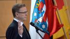Bodo Ramelow bei der Vereidigung im Erfurter Landtag.