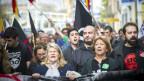 Protest gegen Arbeitslosigkeit in Spanien.