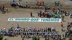 Eine Aktion von peruanischen Jugendlichen während des Klimagipfels in Lima: «Die Welt, die wir wollen».