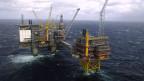 Norwegen verdankt einen grossen Teil seines Wohlstands dem Öl. Luftbild von der Oseberg-Ölplattform in der Norwegischen See.