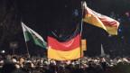Demonstration der rechtsgerichteten Gruppe «Pegida»  - «Patrioten gegen die Islamisierung des Abendlandes» - in Dresden am  8. Dezember 2014.