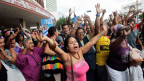Menschen in Havanna, nachdem USA und Kuba beschlossen hatten, die diplomatischen Beziehungen wieder aufzunehmen.