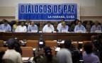 Vertreter der kolumbianischen Regierung und der FARC bei Friedensgesprächen in Havanna