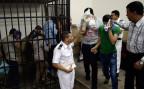 Angeklagte Schwule in einem Gerichtssaal in Kairo