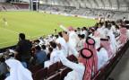 Ein Fussballstadion in Doha, während des Länderspiels von Katar gegen Nordkorea