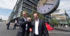 Die SBB-Führung weiht den neuen Hauptsitz in Bern ein (14. August 2014).
