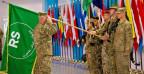 Fahnenübergabe in Kabul - die Kampftruppen der Nato ziehen Ende Jahr ab.