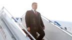 Der Präsident der Ukraine Petro Poroschenko bei seiner Ankunft auf dem Flughafen ausserhalb von Minsk am 26. August 2014.