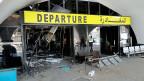 Am Flughafen der libyschen Hauptstadt Tripolis – die Isolation von der Aussenwelt ist nahezu total.